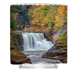 Autumn At The Lower Falls Shower Curtain by Rick Berk