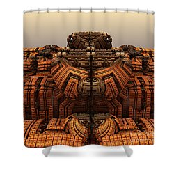 Autumn At The Thunderball Dome Shower Curtain by Michelle H