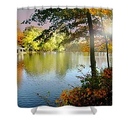 Autumn At Tilley Pond Shower Curtain by Diana Angstadt