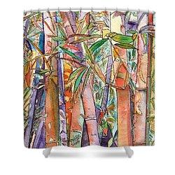 Autumn Bamboo Shower Curtain