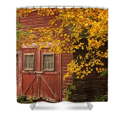 Shower Curtain featuring the photograph Autumn Barn by Tom Singleton