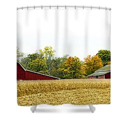 Autumn Barns Shower Curtain by Pat Cook