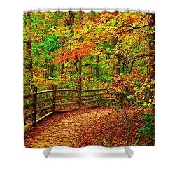 Autumn Bend - Allaire State Park Shower Curtain