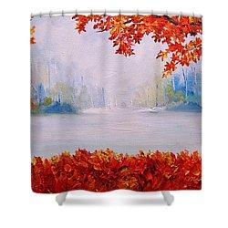 Autumn Blaze Maple Trees Shower Curtain