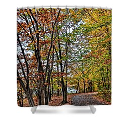 Shower Curtain featuring the photograph Autumn Bliss by Gina Savage