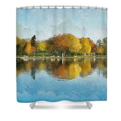 Autumn Blues Shower Curtain