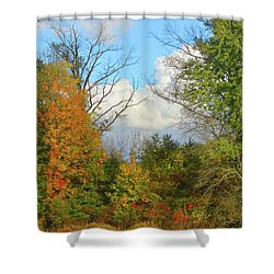 Autumn Breeze Nature Art Shower Curtain by Robyn King