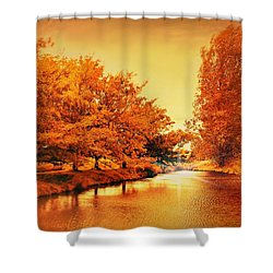 Autumn Breeze Shower Curtain by Wallaroo Images