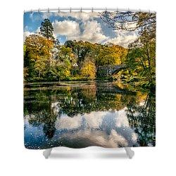 Autumn Bridge Shower Curtain by Adrian Evans