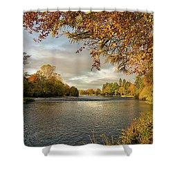 Autumn By The River Ness Shower Curtain