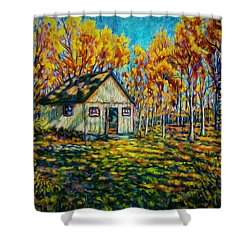 Autumn Cabin Trip Shower Curtain