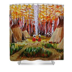 Autumn Camp Shower Curtain