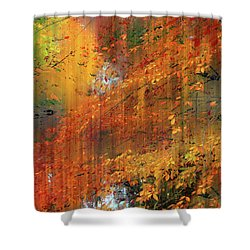 Shower Curtain featuring the photograph Autumn Cascade by Jessica Jenney