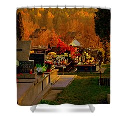 Autumn Cemetery Shower Curtain