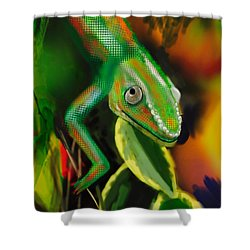 Autumn Chameleon Shower Curtain