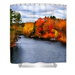 Autumn Channel Shower Curtain