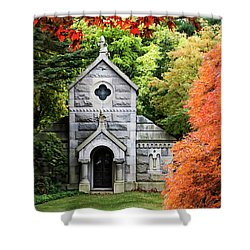 Autumn Chapel Shower Curtain