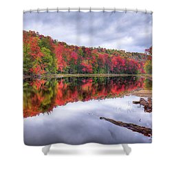 Shower Curtain featuring the photograph Autumn Color At The Pond by David Patterson