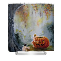 Autumn Color Celebration Shower Curtain