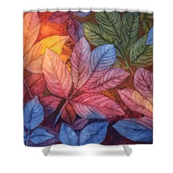 Autumn Color Shower Curtain by Nancy Jolley