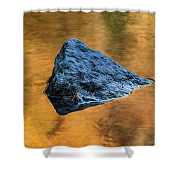 Shower Curtain featuring the photograph Autumn Color On Little River - D009990 by Daniel Dempster