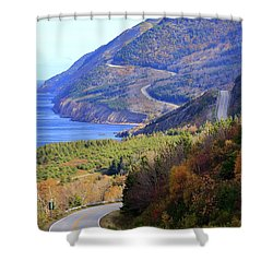 Autumn Color On The Cabot Trail, Cape Breton, Canada Shower Curtain