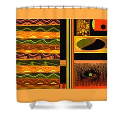 Shower Curtain featuring the photograph Autumn Colors Abstract by Brooks Garten Hauschild