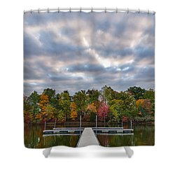 Autumn Colors At The Lake Shower Curtain