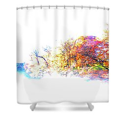 Autumn Colors Shower Curtain by Hannes Cmarits