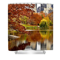 Autumn Colors In Central Park New York City Shower Curtain
