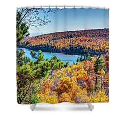 Autumn Colors Overlooking Lax Lake Tettegouche State Park II Shower Curtain