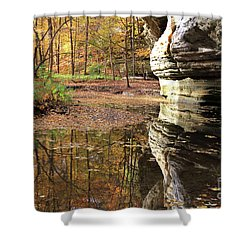 Autumn Comes  To Illinois Canyon  Shower Curtain