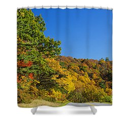 Autumn Country Roads Blue Ridge Parkway Shower Curtain