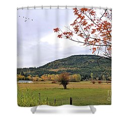 Autumn Country View Shower Curtain