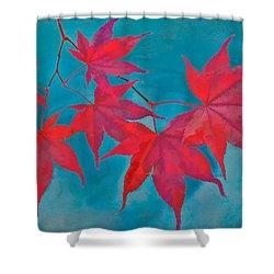 Autumn Crimson Shower Curtain by William Jobes