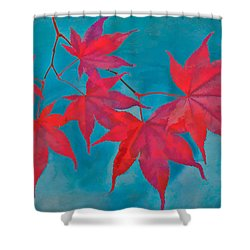 Autumn Crimson Shower Curtain