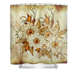 Autumn Daisys Shower Curtain