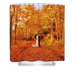 Autumn Dance Shower Curtain by Jai Johnson