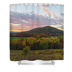 Autumn Dawn At Moodna Viaduct Trestle Panorama  Shower Curtain