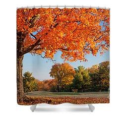 Autumn Dawn Shower Curtain by Brian Jannsen