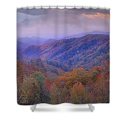 Autumn Deciduous Forest Great Smoky Shower Curtain by Tim Fitzharris