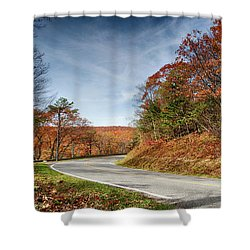 Autumn Dreams Around The Bend Shower Curtain