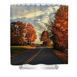 Shower Curtain featuring the photograph Autumn Drive by Kendall McKernon