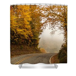 Autumn Drive North Carolina Shower Curtain