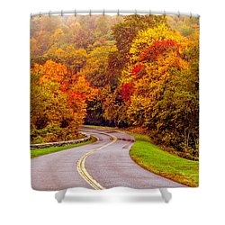Autumn Drive On The Blue Ridge Shower Curtain by Alex Grichenko