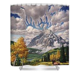 Autumn Echos Shower Curtain by Jerry LoFaro