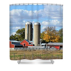 Autumn Elk Farm Shower Curtain