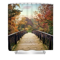 Shower Curtain featuring the photograph Autumn Encounter by Jessica Jenney