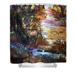 Autumn Encounter Shower Curtain