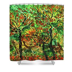 Autumn Shower Curtain by Erik Tanghe